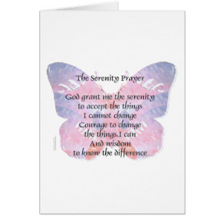 Serenity Prayer Butterfly Card
