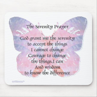 Serenity Prayer Butterfly Mouse Mat