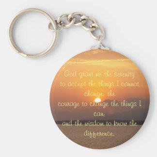 Serenity Prayer Button Key Ring
