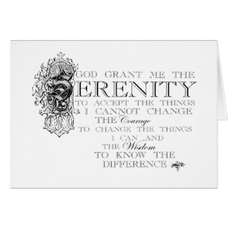 Serenity Prayer Card