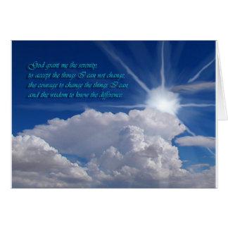 Serenity prayer card1nf greeting card