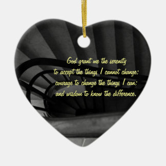 Serenity Prayer Ceramic Heart Decoration
