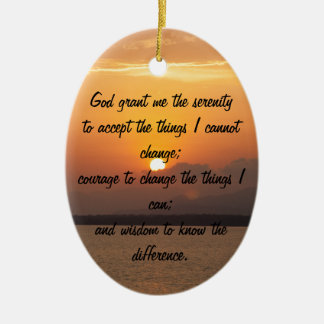 Serenity Prayer Ceramic Oval Decoration