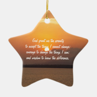 Serenity Prayer Ceramic Star Decoration