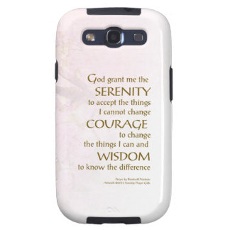 Serenity Prayer Cherry Blossoms Galaxy S3 Cases