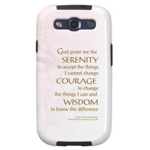 Serenity Prayer Cherry Blossoms Galaxy S3 Cases