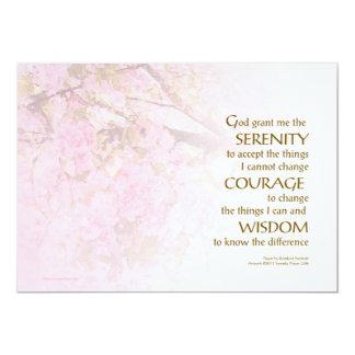 Serenity Prayer Cherry Blossoms Personalized Invite