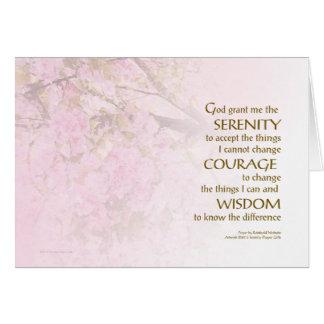 Serenity Prayer Cherry Blossoms Note Card
