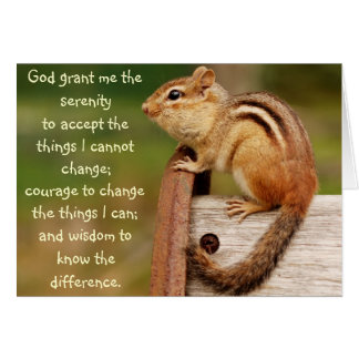 Serenity Prayer Chipmunk Card