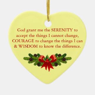 Serenity Prayer Christmas Ornament