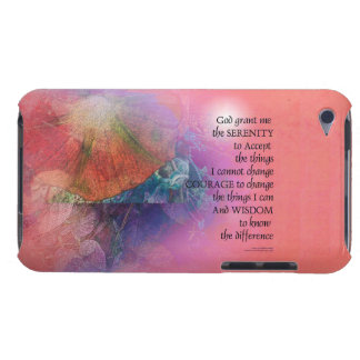 Serenity Prayer Collage Orange Pink Barely There iPod Case