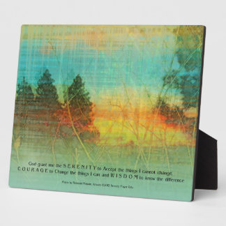 Serenity Prayer Colorful Trees Plaque