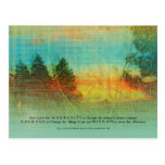 Serenity Prayer Colourful Trees Postcard