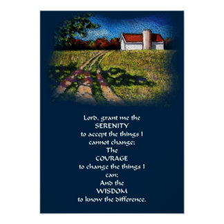 SERENITY PRAYER/ COUNTRY LANE POSTER