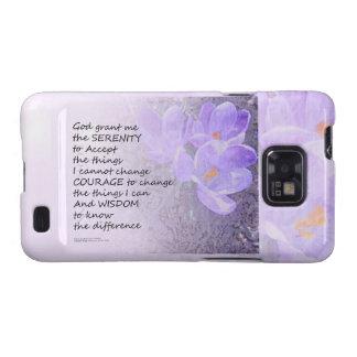 Serenity Prayer Crocus Samsung Galaxy S2 Case