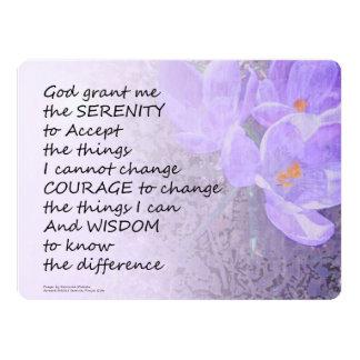 Serenity Prayer Crocus 6.5x8.75 Paper Invitation Card