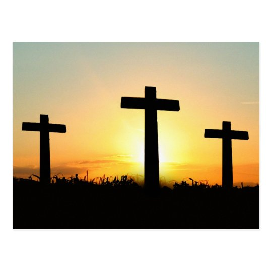 Serenity Prayer Crosses at Sunrise Postcard