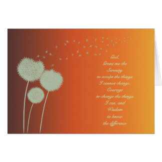 Serenity Prayer dandelions card