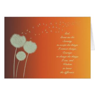 Serenity Prayer dandelions card