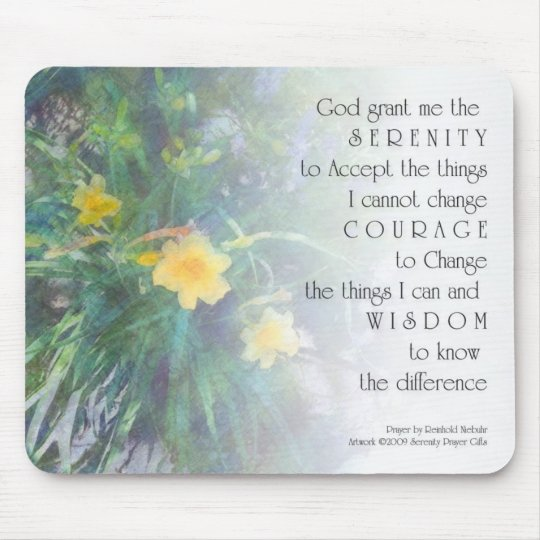 Serenity Prayer Day Lilly Mousepad