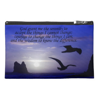 serenity prayer double bird blues travel bag travel accessories bag
