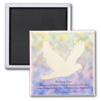 Serenity Prayer Dove Magnet