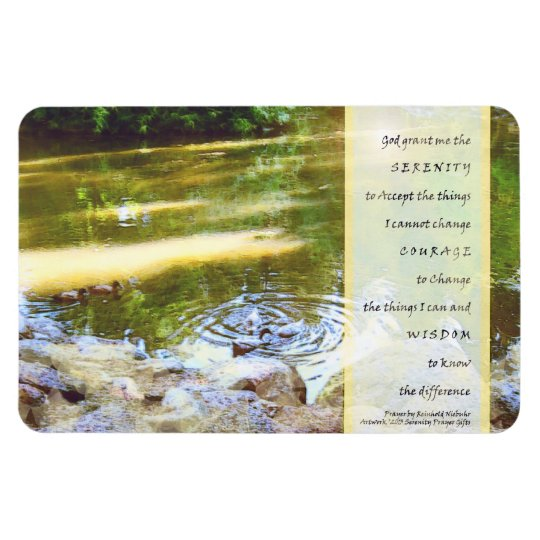 Serenity Prayer Duck Pond Reflections Rectangular Photo Magnet