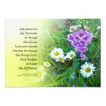 Serenity Prayer Flower Garden Invitation