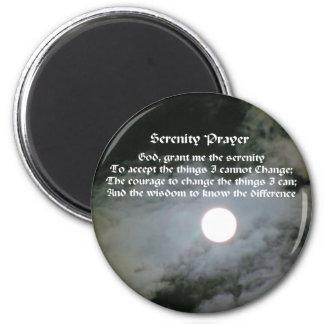 Serenity Prayer Full Moon Inspirational Magnet