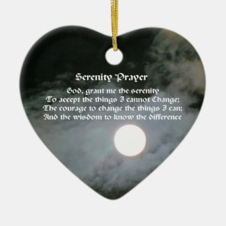 Serenity Prayer Full Moon Inspirational Ornament