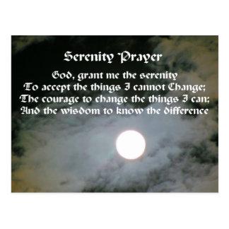 Serenity Prayer Full Moon Inspirational Postcard