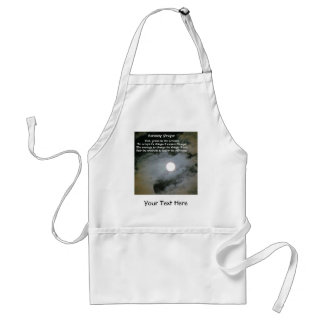 Serenity Prayer Full Moon Inspirational Standard Apron