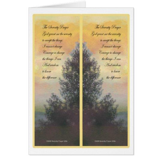 Serenity Prayer Gifts Bookmarks Card