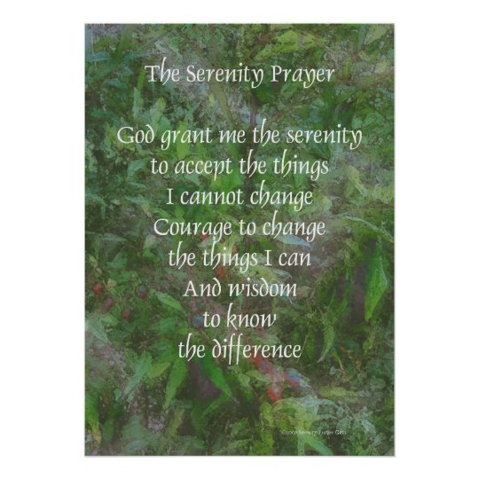Serenity Prayer Green Poster