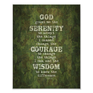 Serenity Prayer: Grunge, Camouflage, Recovery Photograph