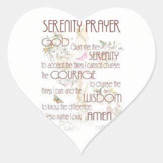 Serenity Prayer Heart Sticker