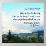 Serenity Prayer Hills Poster