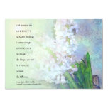 Serenity Prayer Hyacinths Invitation 13 Cm X 18 Cm Invitation Card