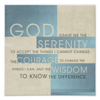 Serenity Prayer II Poster