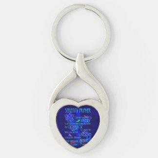 Serenity Prayer in Blue Key Ring