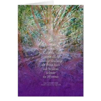 Serenity Prayer Incense Cedar Greeting Card