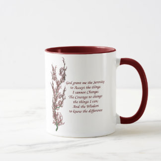 Serenity Prayer Inspirational Quote Mug