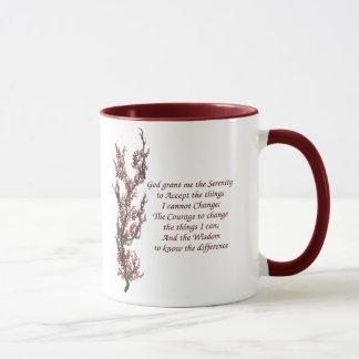Serenity Prayer Inspirational Quote Mug