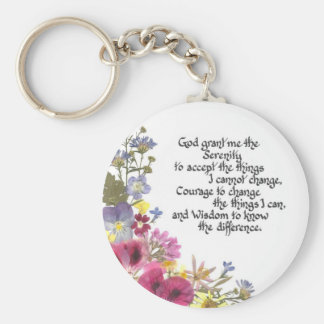 Serenity Prayer Key Ring