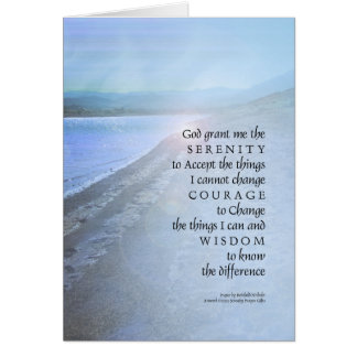 Serenity Prayer Lake View Card