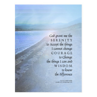 Serenity Prayer Lake View Postcard