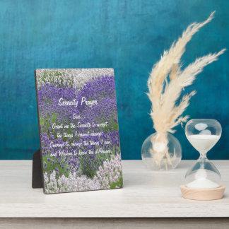 Serenity Prayer Lavender Garden Floral Plaque