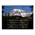 Serenity Prayer Mount Rainier Postcard