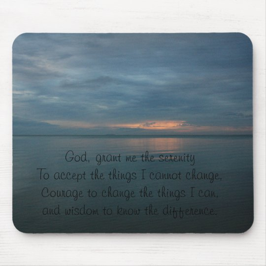 Serenity Prayer Mousepad