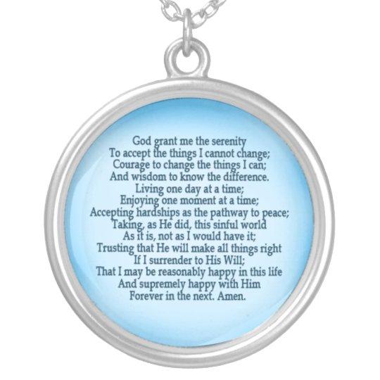 Serenity Prayer Necklace